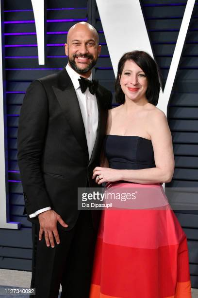 KeeganMichael Key and Elisa Pugliese attends the 2019 Vanity Fair Oscar Party hosted by Radhika Jones at Wallis Annenberg Center for the Performing...
