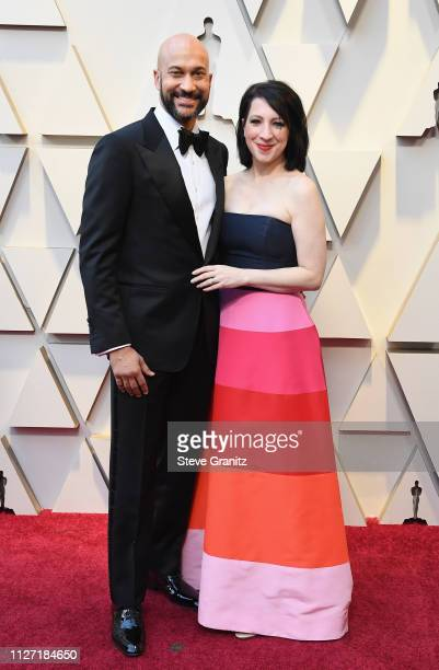 KeeganMichael Key and Elisa Pugliese attends the 91st Annual Academy Awards at Hollywood and Highland on February 24 2019 in Hollywood California