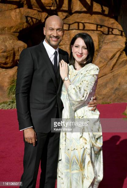 """Keegan-Michael Key and Elisa Key attends the premiere of Disney's """"The Lion King"""" at Dolby Theatre on July 09, 2019 in Hollywood, California."""