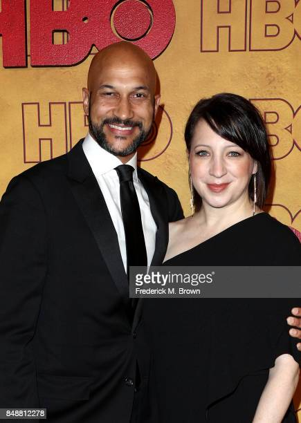 KeeganMichael Key and Elisa Pugliese attend HBO's Post Emmy Awards Reception at The Plaza at the Pacific Design Center on September 17 2017 in Los...