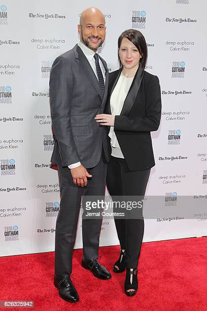 KeeganMichael Key and Elisa Pugliese attend IFP's 26th Annual Gotham Independent Film Awards at Cipriani Wall Street on November 28 2016 in New York...