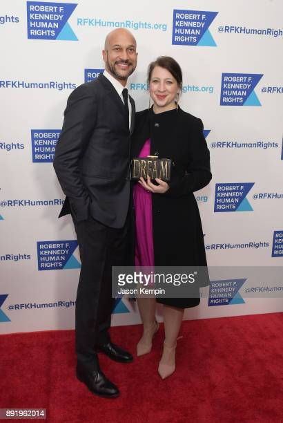 KeeganMichael Key and Elisa Pugliese attend Robert F Kennedy Human Rights Hosts Annual Ripple Of Hope Awards Dinner on December 13 2017 in New York...