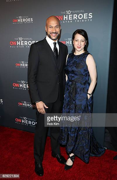 KeeganMichael Key and Elisa Pugliese attend the 10th Anniversary CNN Heroes at American Museum of Natural History on December 11 2016 in New York City