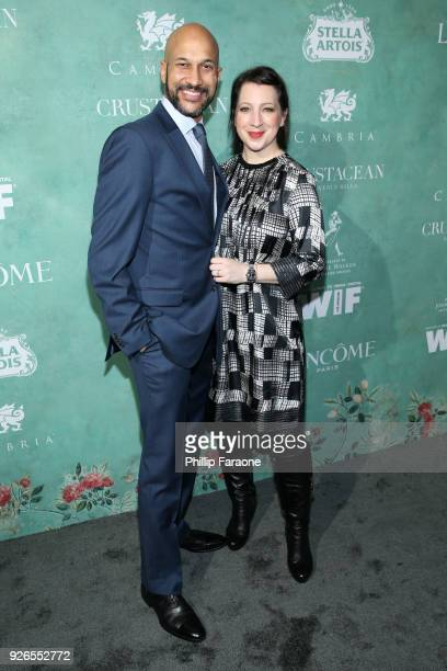 KeeganMichael Key and Elisa Pugliese attend the 11th annual celebration of the 2018 female Oscar nominees presented by Women in Film at Crustacean on...