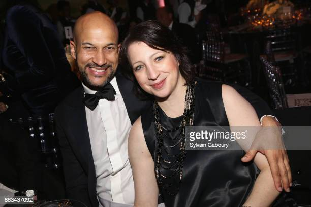KeeganMichael Key and Elisa Pugliese attend The 2017 Museum Gala at American Museum of Natural History on November 30 2017 in New York City