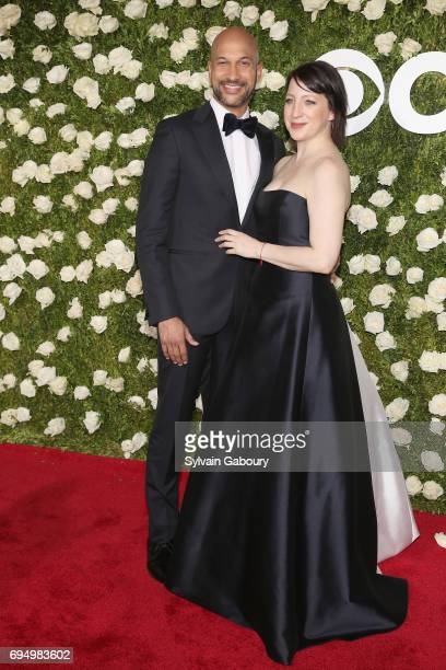 KeeganMichael Key and Elisa Pugliese attend the 2017 Tony Awards at Radio City Music Hall on June 11 2017 in New York City