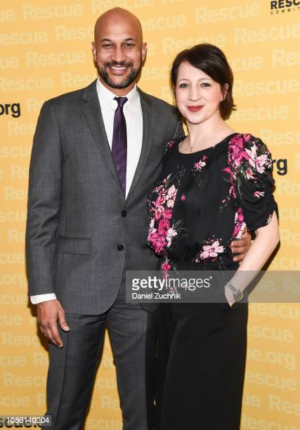 KeeganMichael Key and Elisa Pugliese attend the 2018 IRC Rescue Dinner at New York Hilton Midtown on November 1 2018 in New York City