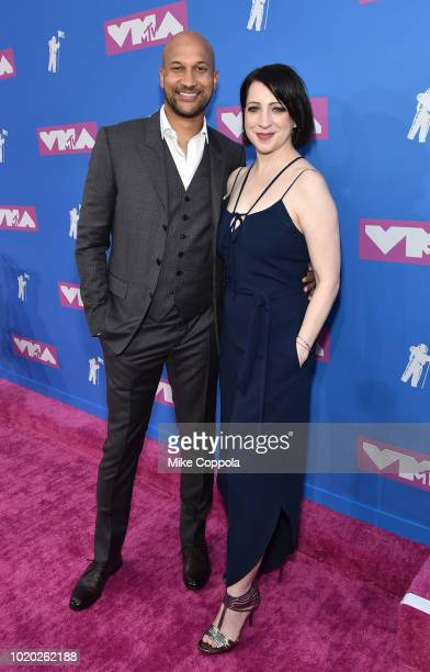 KeeganMichael Key and Elisa Pugliese attend the 2018 MTV Video Music Awards at Radio City Music Hall on August 20 2018 in New York City