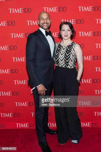KeeganMichael Key and Elisa Pugliese attend the 2018 Time 100 Gala at Frederick P Rose Hall Jazz at Lincoln Center on April 24 2018 in New York City
