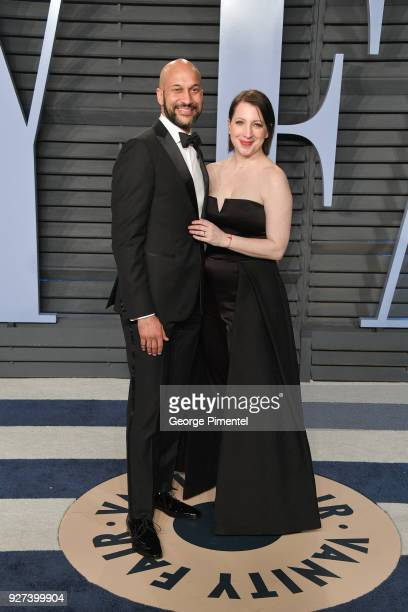 KeeganMichael Key and Elisa Pugliese attend the 2018 Vanity Fair Oscar Party hosted by Radhika Jones at Wallis Annenberg Center for the Performing...