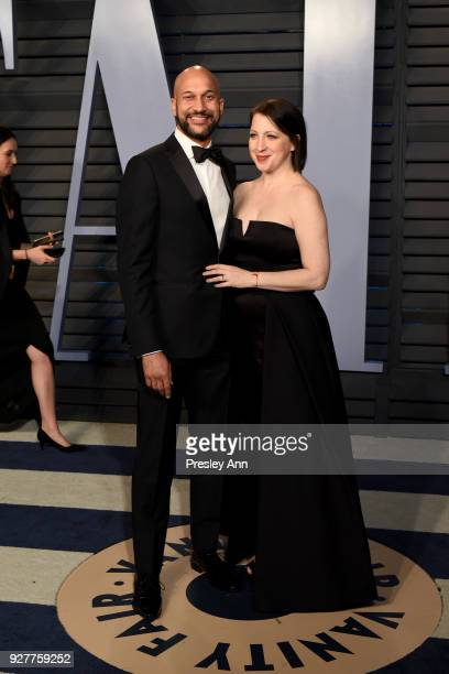 KeeganMichael Key and Elisa Pugliese attend the 2018 Vanity Fair Oscar Party Hosted By Radhika Jones Arrivals at Wallis Annenberg Center for the...