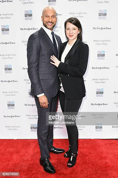 KeeganMichael Key and Elisa Pugliese attend the 26th Annual Gotham Independent Film Awards at Cipriani Wall Street on November 28 2016 in New York...