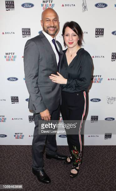 KeeganMichael Key and Elisa Pugliese attend the 7th Annual 'Reel Stories Real Lives' event benefiting MPTF at the DGA Theater on November 8 2018 in...