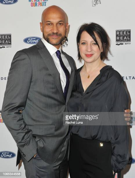 KeeganMichael Key and Elisa Pugliese attend the 7th Annual 'Reel Stories Real Lives' event benefiting MPTF at DGA Theater on November 08 2018 in Los...