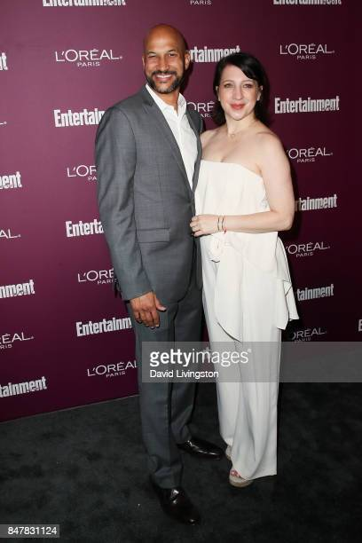 KeeganMichael Key and Elisa Pugliese attend the Entertainment Weekly's 2017 PreEmmy Party at the Sunset Tower Hotel on September 15 2017 in West...