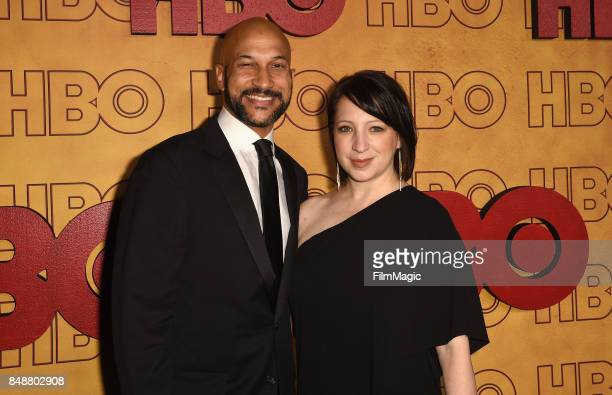 KeeganMichael Key and Elisa Pugliese attend the HBO's Official 2017 Emmy After Party at The Plaza at the Pacific Design Center on September 17 2017...