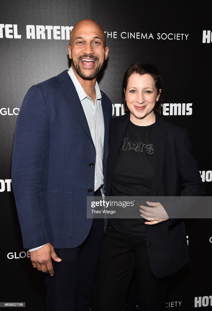 Keegan-Michael Key and Elisa Pugliese attend the screening of 'Hotel Artemis' at Quad Cinema on May 29, 2018 in New York City.