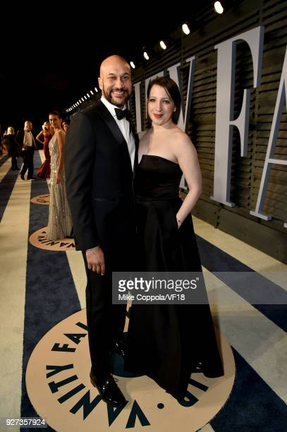 KeeganMichael Key and Elisa Pugliese attends the 2018 Vanity Fair Oscar Party hosted by Radhika Jones at Wallis Annenberg Center for the Performing...