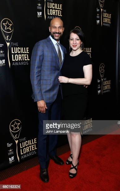 KeeganMichael Key and Elisa Puglieseattends 32nd Annual Lucille Lortle Awards at NYU Skirball Center on May 7 2017 in New York City