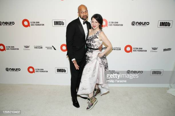 Keegan-Michael Key and Elle Key attends the 28th Annual Elton John AIDS Foundation Academy Awards Viewing Party Sponsored By IMDb, Neuro Drinks And...