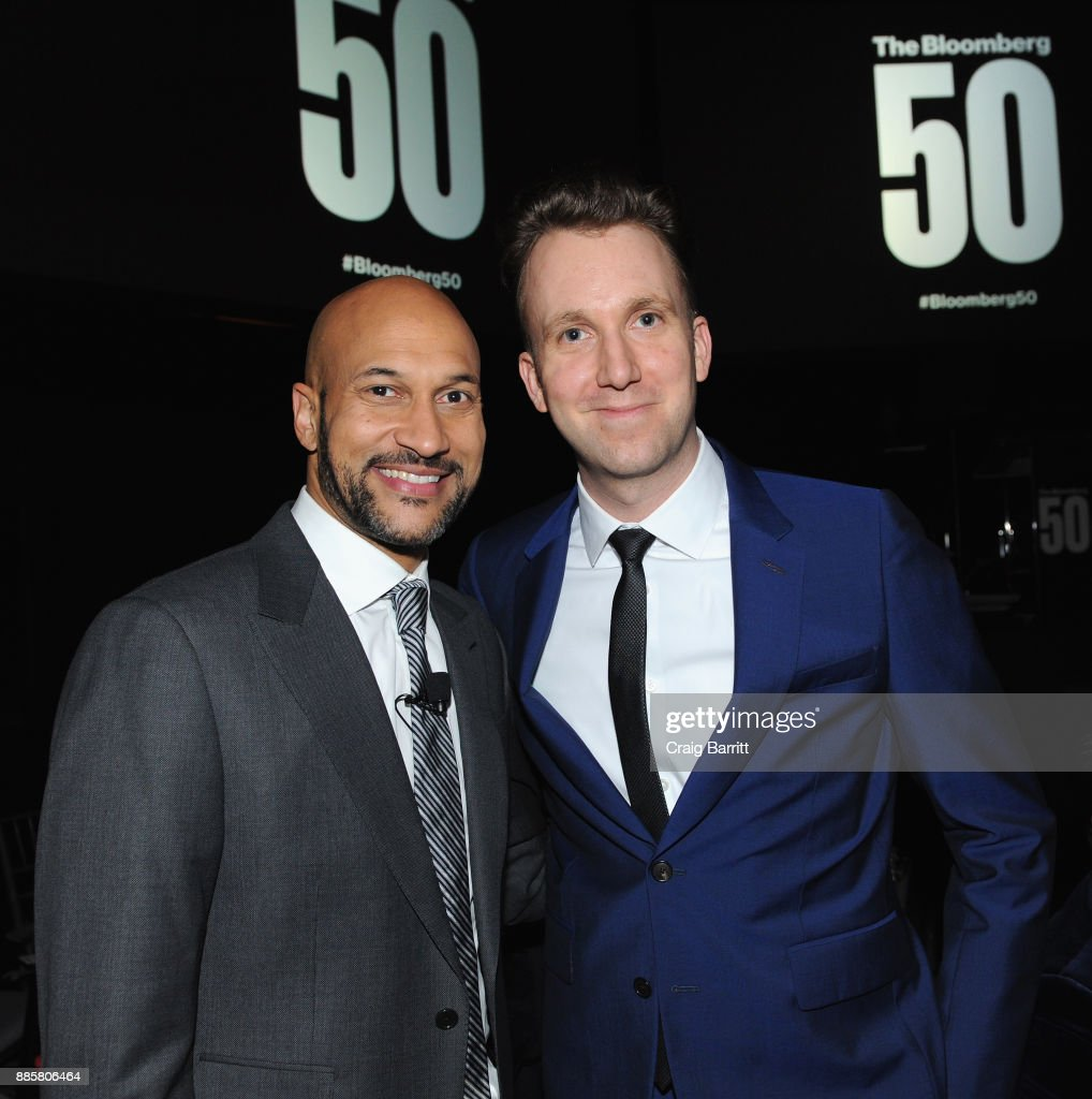 Keegan-Michael Key (L) and Jordan Klepper attend 'The Bloomberg 50' Celebration at Gotham Hall on December 4, 2017 in New York City.