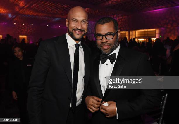 KeeganMichael Key and Jordan Peele attend 49th NAACP Image Awards After Party at Pasadena Civic Auditorium on January 15 2018 in Pasadena California