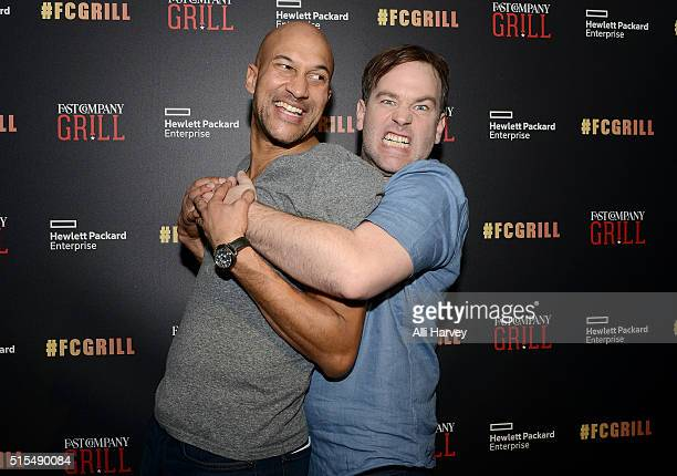 KeeganMichael Key and Mike Birbiglia attend the Fast Company Grill with Bella Thorne Kian Lawley KeeganMichael Key Gillian Jacobs on March 13 2016 in...