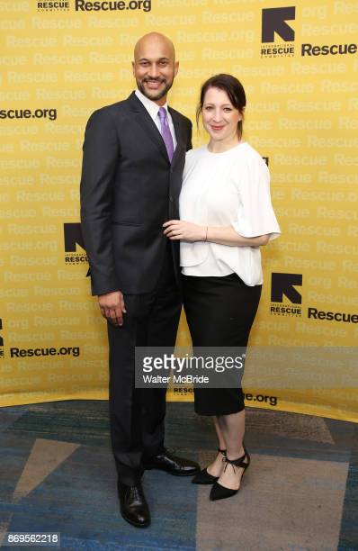 KeeganMichael Key and Producer Elisa Pugliese attend The 2017 Rescue Dinner hosted by IRC at New York Hilton Midtown on November 2 2017 in New York...