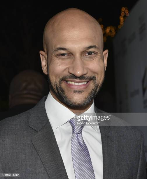 KeeganMichael Key arrives at the 9th Annual AAFCA Awards at Taglyan Complex on February 7 2018 in Los Angeles California