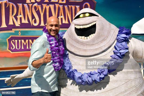 KeeganMichael Key attends the photo call for Sony Pictures' 'Hotel Transylvania 3 Summer Vacation' at Sony Pictures Studios on April 11 2018 in...