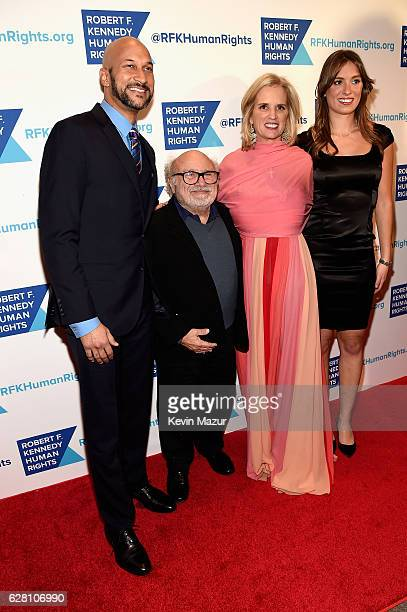 KeeganMichael Key Danny DeVito Kerry Kennedy and Mariah Kennedy Cuomo attend RFK Human Rights' Ripple of Hope Awards Honoring VP Joe Biden Howard...