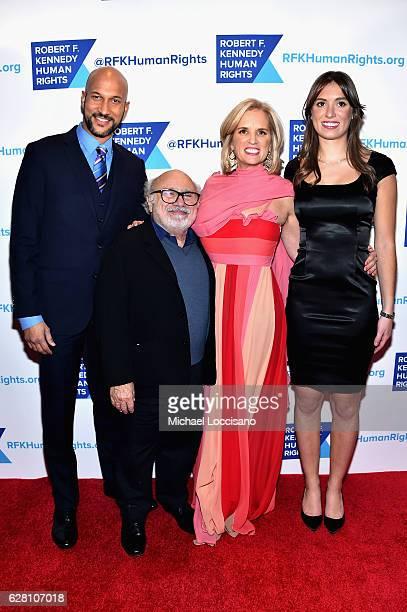 KeeganMichael Key Danny DeVito Kerry Kennedy and Mariah Kennedy Cuomo attend RFK Human Rights' Ripple of Hope Awards Honoring VP Joe Biden Howard...