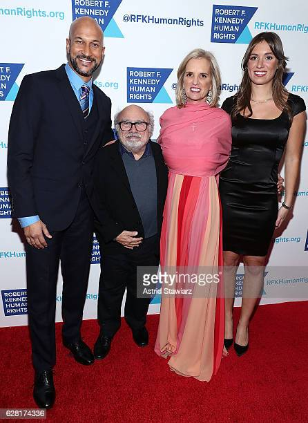 KeeganMichael Key Danny DeVito Kerry Kennedy and Mariah Kennedy Cuomo attend the 2016 Robert F Kennedy Human Rights' Ripple Of Hope Awards at New...