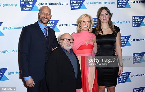 KeeganMichael Key Danny DeVito Kerry Kennedy and Mariah Kennedy Cuomo attend RFK Human Rights Ripple of Hope Gala Awards honoring VP Joe Biden Howard...