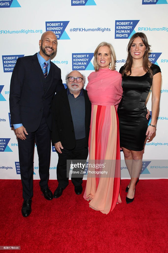 Keegan-Michael Key, Danny DeVito, Kerry Kennedy, and Mariah Kennedy Cuomo attend 2016 Robert F. Kennedy Human Rights' Ripple of Hope Awards at New York Hilton Midtown on December 6, 2016 in New York City.