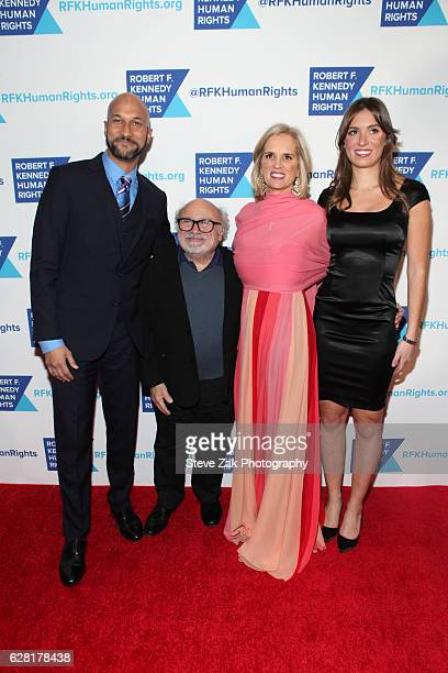 KeeganMichael Key Danny DeVito Kerry Kennedy and Mariah Kennedy Cuomo attend 2016 Robert F Kennedy Human Rights' Ripple of Hope Awards at New York...