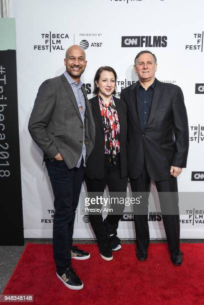 KeeganMichael Key Elisa Pugliese and Craig Hatkoff attend 2018 Tribeca Film Festival Opening Night Premiere Of Love Gilda at Beacon Theatre on April...