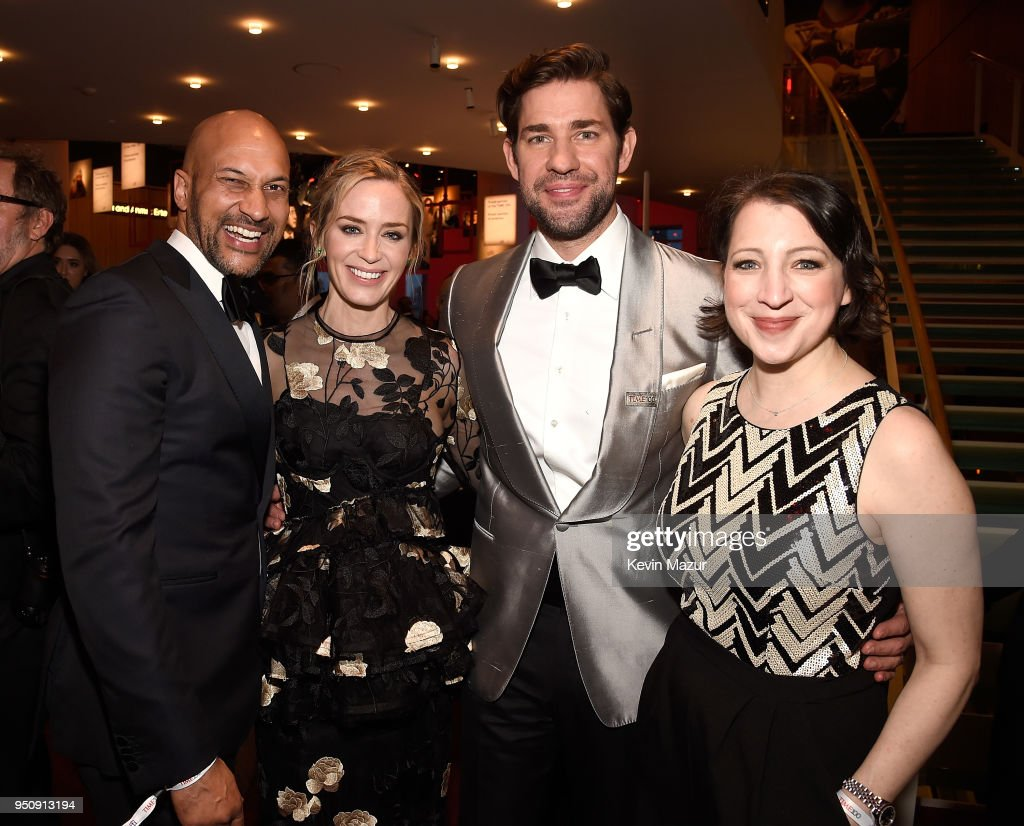Keegan-Michael Key, Emily Blunt, John Krasinski and Elisa Pugliese attend the 2018 Time 100 Gala at Jazz at Lincoln Center on April 24, 2018 in New York City.Ê