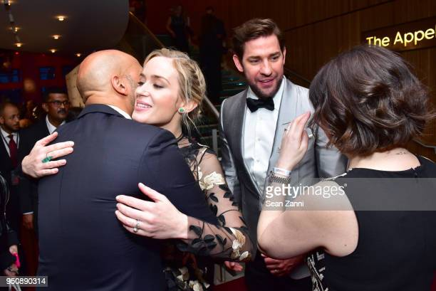 KeeganMichael Key Emily Blunt John Krasinski and Lisa Pugliese attend the 2018 TIME 100 Gala at Jazz at Lincoln Center on April 24 2018 in New York...