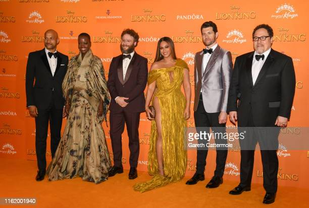 "Keegan-Michael Key, Florence Kasumba, Seth Rogen, Beyonce Knowles-Carter, Billy Eichner and Jon Favreau attend the European Premiere of Disney's ""The..."