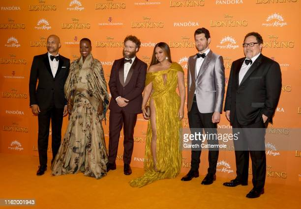 "Keegan-Michael Key, Florence Kasumba, Seth Rogen, Beyonce Knowles-Carter, Billy Eichner and Jon Favreau attend the European Premiere of Disney's ""The..."