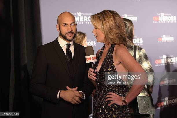 KeeganMichael Key is interviewed by Brooke Baldwin during CNN Heroes Gala 2016 at the American Museum of Natural History on December 11 2016 in New...