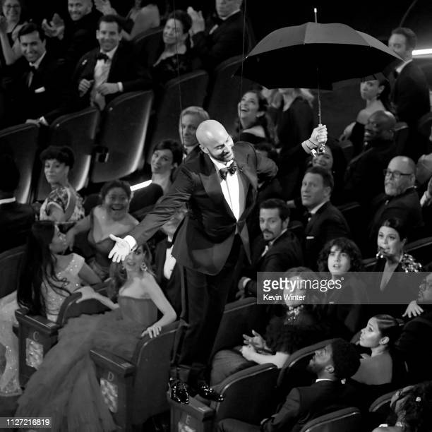 KeeganMichael Key is lowered to the floor during the 91st Annual Academy Awards at Dolby Theatre on February 24 2019 in Hollywood California
