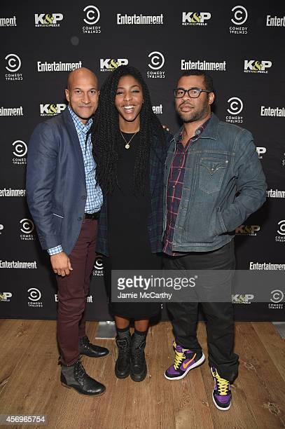 KeeganMichael Key Jessica Williams and Jordan Peele attend an Special Advanced Screening Of Key Peele on October 9 2014 in New York City