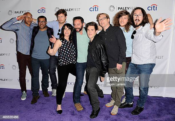 KeeganMichael Key Jordan Peele Anders Holm Abbi Jacobson Nick Kroll Adam DeVine Andy Daly Blake Anderson and Kyle Newacheck attend A Salute to Comedy...