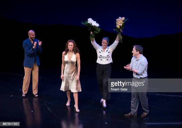 KeeganMichael Key Laura Benanti Amy Schumer and Jeremy Shamos perform during the Meteor Shower opening night on Broadway on November 29 2017 in New...