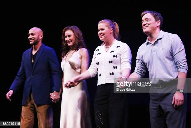 KeeganMichael Key Laura Benanti Amy Schumer and Jeremy Shamos take the opening night curtain call for Steve Martin's new play Meteor Shower on...