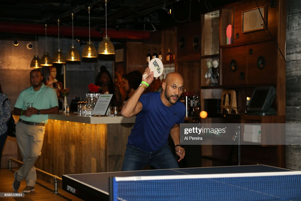 Keegan-Michael Key plays ping-pong when he attends Project 375's