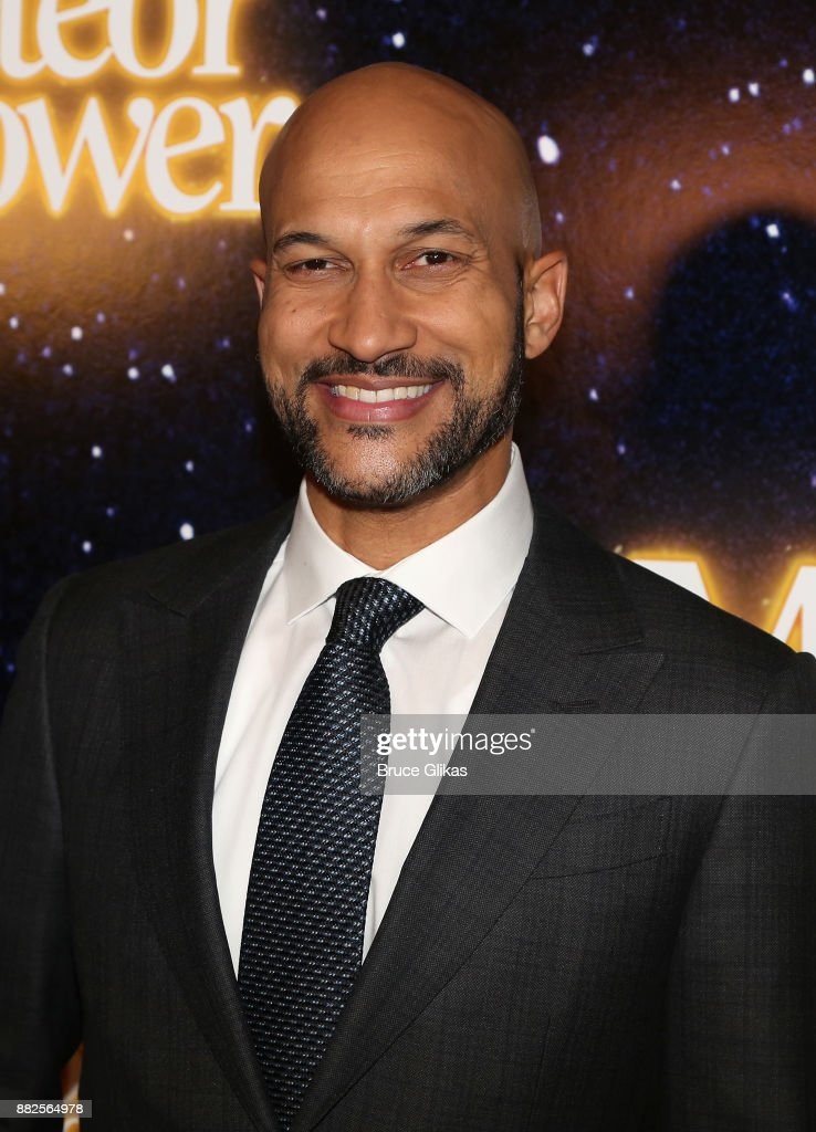 Keegan-Michael Key poses as he makes his broadway debut at The Opening Night of Steve Martin's new play 'Meteor Shower' on Broadway at The Booth Theatre on November 29, 2017 in New York City.