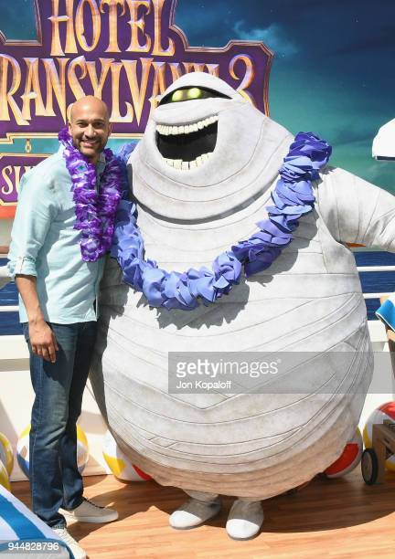 KeeganMichael Key poses at the photo call For Sony Pictures' 'Hotel Transylvania 3 Summer Vacation' at Sony Pictures Studios on April 11 2018 in...